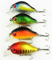 Wholesale 4Pieces Bass Minnow CrankBaits  Fishing Lures