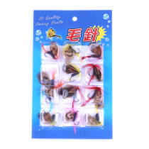 Wholesale 12 pieces/set Fly Fishing Bait Artificial Butterfly Dry Fly Flies Lures
