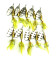 10 pieces/bag  Metal Saltwater Spinnerbaits Bass Fishing Lure with Treble Hooks