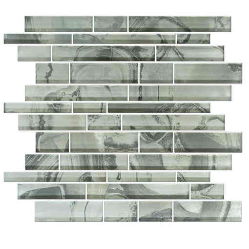 Glass Mosaic Wall Tile Onyx Grigio BP05