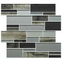 Glass Mosaic Wall Tile Onyx Graphite BP06