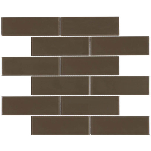 Glass Subway Tile Metropole Chocolate OB13