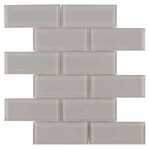 Glass Subway Tile French Gray OB11