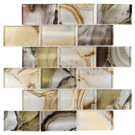 Glass Subway Tile Onyx Beige OB01