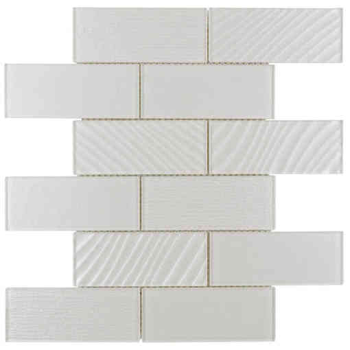 Glass Subway Tile Contemporary Almond OB05