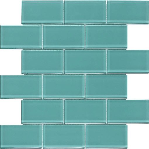 Subway Glass Tile Turquoise OB04