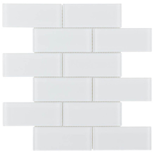 Glass Subway Tile Extra White OB12
