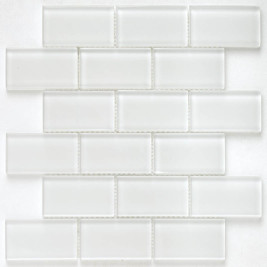 Subway Glass Tile Simplicity White OB02