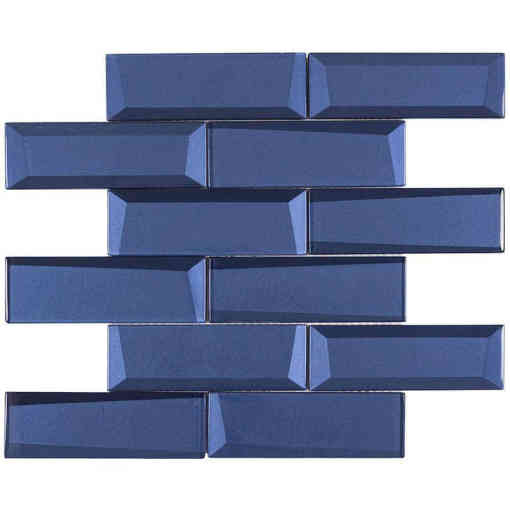 Glass Wall Tile Dimension Ink Blue OB24