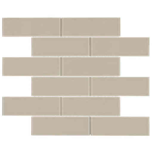 Glass Subway Tile Metropole Khaki OB15