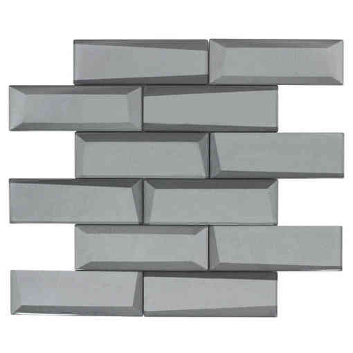 Glass Wall Tile Dimension Gray OB23