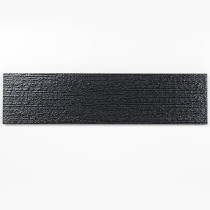 Glass Subway Tile Black 100x300mm OB31