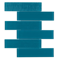 Glass Pool Tile Turquoise OB28