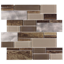Glass Mosaic Wall Tile Onyx Caffe BP08