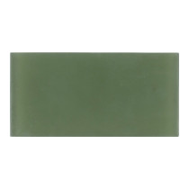 Glass Subway Tile Green Frosted 100x200mm OB59