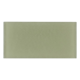 Glass Subway Tile Olive Frosted 100x200mm OB60