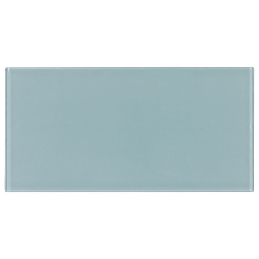 Glass Subway Tile Blue 100x200mm OB53