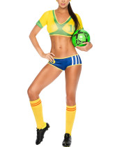Women's Baby Soccer Costume Set Low Waist Bottoms Breathable For Woman