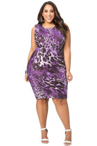 Drop Shipping Purple Large Womens Sexy Plus Size Dresses