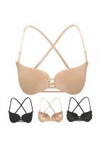 Nude Invisible Butterfly Shape Bra Crisscross Back Push Up