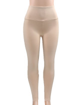Daring Nude Pleated Booty Lifting Leggings High Rise Online