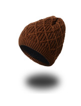 Knitting Coffee Outdoor Winter Hat Headwear Soft Touch