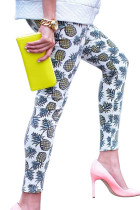 Skinny Stretchy Waistband Pineapple Cute Printed Legging