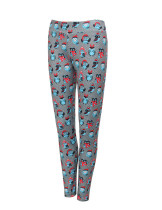Stretchy Polyester Spandex Eagle Printing Leggings Ankle Length