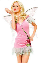 Darling Peace Lover Feather Pink Angel Fairy Wings Costumes