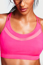 Comfortable Activewear Push Up Red Workout Bra Strappy Back