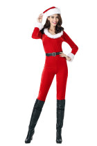 Sweetie Christmas Character Costumes Mistress Red Jumpsuit