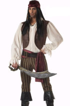 Halloween Parties Rogue Pirate Adult Costume For Men