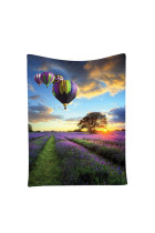 Romantic Lavender Hot Balloon Sunset Wall Decor Tapestry