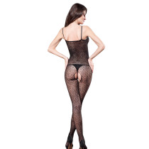Black Sheer Strappy Sexy Fishnet Bodystocking Lace Lingerie