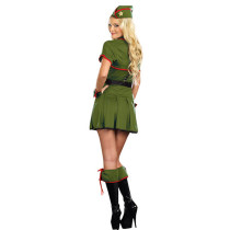 Sweet Fantasies Pleated Skirt Army Costume Halloween