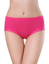 Rose Red Nice Quality Seamless Bamboo Menstrual Panties Online