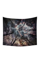 Shimmering Forest Starry Sky Wall Hanging Tapestry Blanket