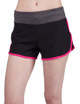 Unique Red Curve Side Banded Waist Active Shorts Going Out Outfits