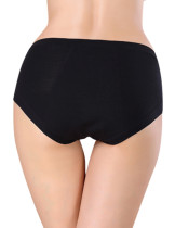 Black Attractive Bamboo Physiological Briefs Evening Romance
