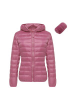 Thick Plus Pink Outwear Jacket Zipper Closure Full Sleeves