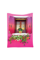 Rustic Burano Windows Box Flowers Tapestry Wall Hangings