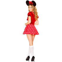 Polka Dot Mouse Deep Neck Mini Dress Movie Costume Ideas