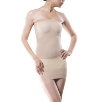 Sculpting Nude Body Shaper Girdle Tight Tube Dress