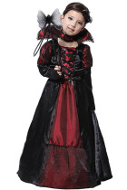 Girl Halloween Vampire Costumes Long Dress Front Lace-Up