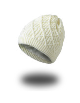 Cold Weather Warmth Beige Thick Beanie Hats Smooth