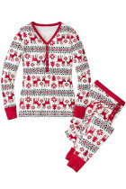 Leisure Female Winter Matching Family Christmas Pajamas