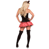 Lavish Flirty Mouse Black Corset Lingerie Halloween Costumes
