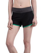 Green Side Split Training Shorts Wide Waistband Young Style