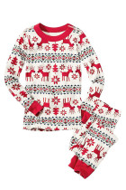 Smooth Warm Two Piece Pattern Kids Christmas Pajamas