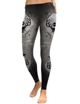 Magical Middle Waist Leggings With Bow And Arrow Patterns Latest Trend